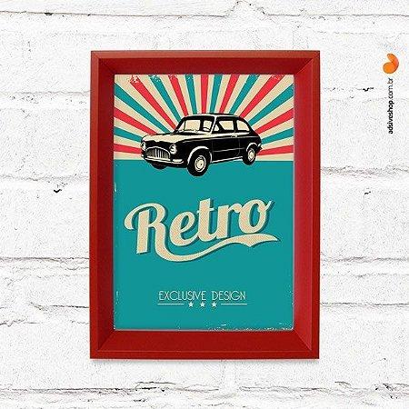 """Quadro Decorativo """"Retro Auto"""""""