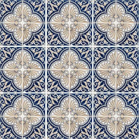 Adesivo Azulejo Chaves - Kit 18pçs