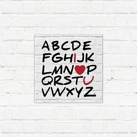 """Placa Decorativa """"Alfabeto"""""""