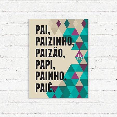 """Placa Decorativa """"Pai"""""""