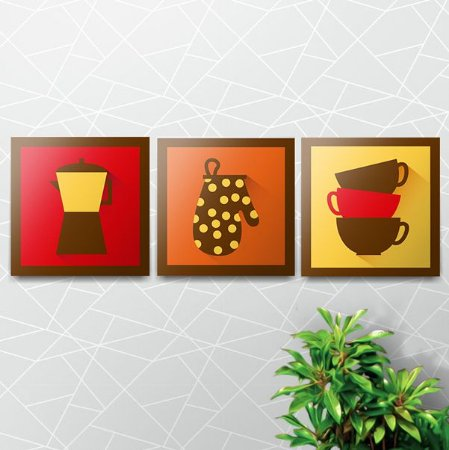 Kit Placas Decorativas Cozinha
