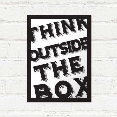 Placa Decorativa Think Outside the box