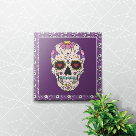 Placa Decorativa Skull Love