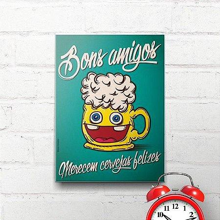 Placa Decorativa Cervejas Felizes