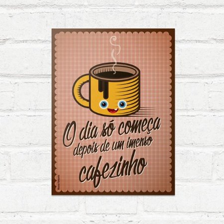 Placa Decorativa Imenso Cafezinho