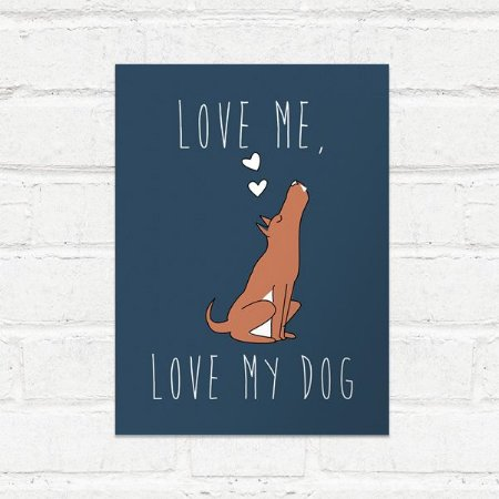 Placa Decorativa Love my dog