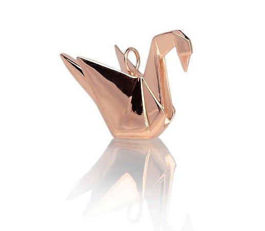 pingente origami tsuru - origami tsuru pendant