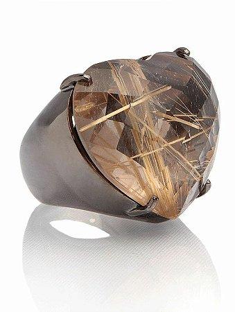 Anel Coeur ON Quartzo Rutilado - Coeur Ring Rutile Quartz BR