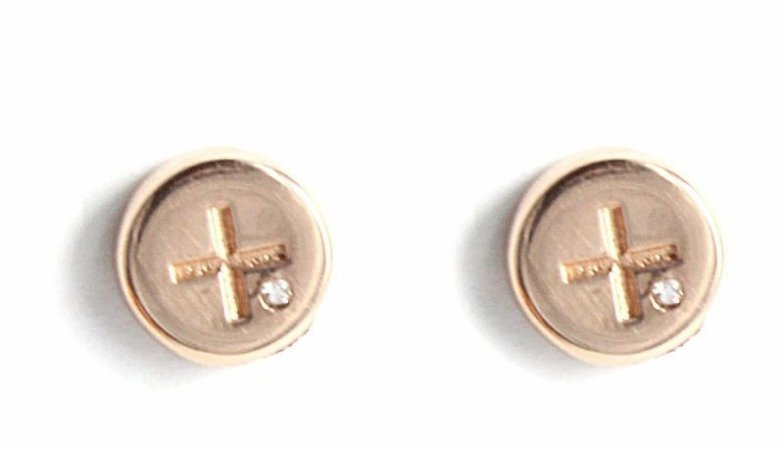 brinco parafuso ouro rosa - screw earring pink gold