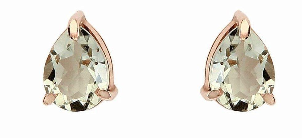 brinco gota prasiolita - prasiolite earring
