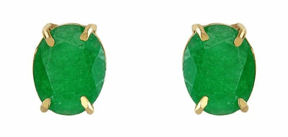 brinco oval nefrita - oval nephrite earring