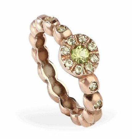 anel bubble peridoto - peridot bubble ring