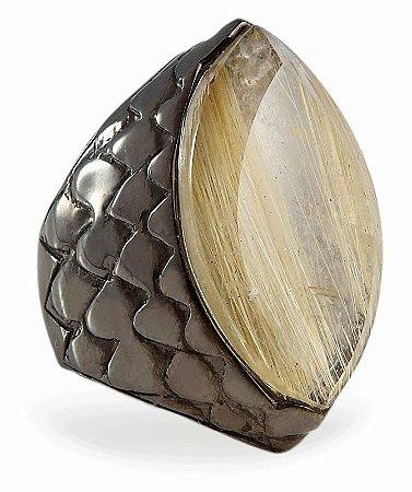anel escamas q. rut. dourado on -scales ring golden rut. q. br