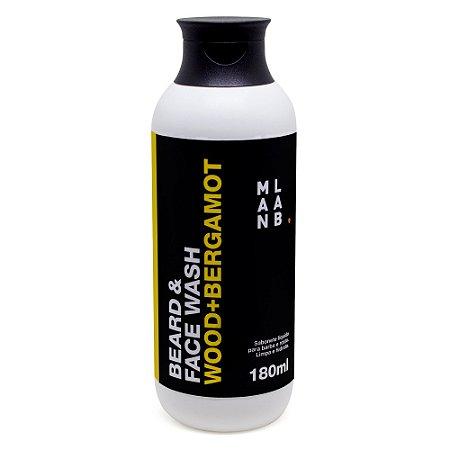 Shampoo para Barba Beard & Face Wash Wood+Bergamot 180ml - ManLab