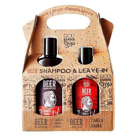 Kit Shampoo & Leave-in Beer - QOD Barber Shop