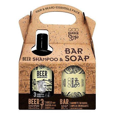 Kit Shampoo Beer & Sabonete - QOD Barber Shop