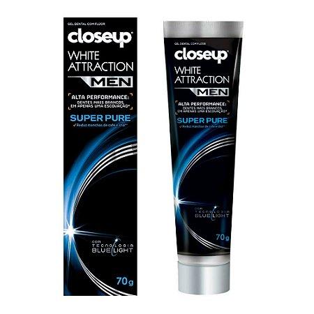 Gel Dental White Attraction Super Pure 70g - Closeup Men