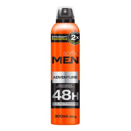 Desodorante Antitranspirante Men Adventure 300ml - Soffie