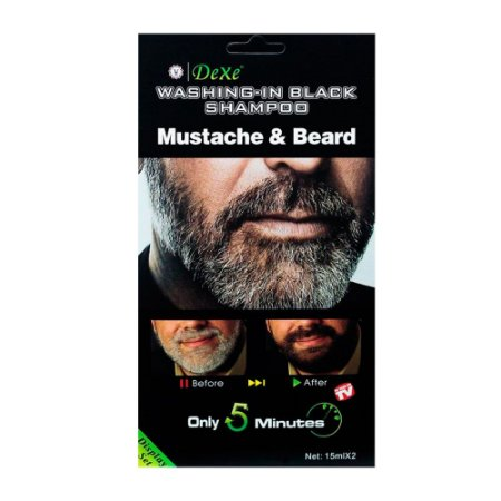 Shampoo Escurecedor de Barba e Bigode Black Beard 2x15ml - Dexe