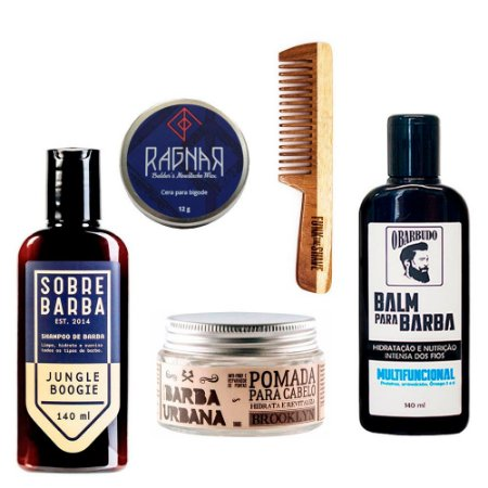 Kit p/ Barba e Cabelo Big Blue - Los Barbudos