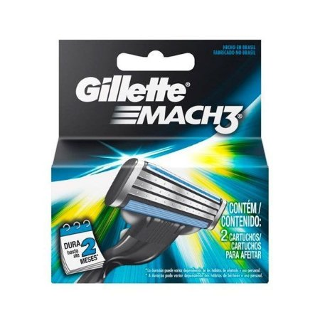 Carga Mach 3 c/ 2 Cartuchos - Gillette