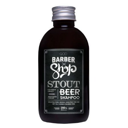 Shampoo Antiressecamento Stout Beer 250ml - QOD Barber Shop
