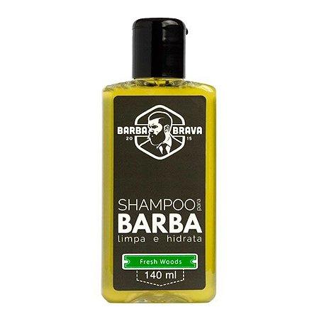 Shampoo para Barba Fresh Woods 140ml - Barba Brava