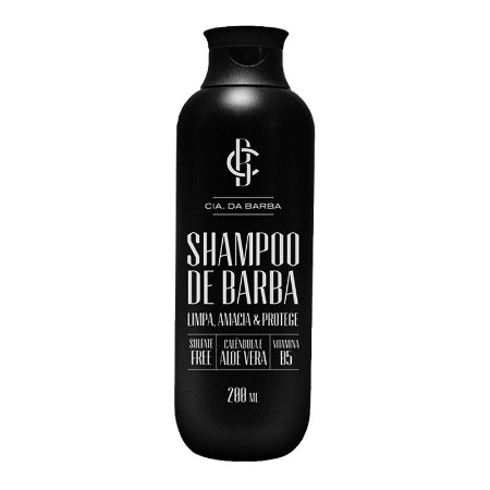 Shampoo de Barba 200ml - Cia. da Barba
