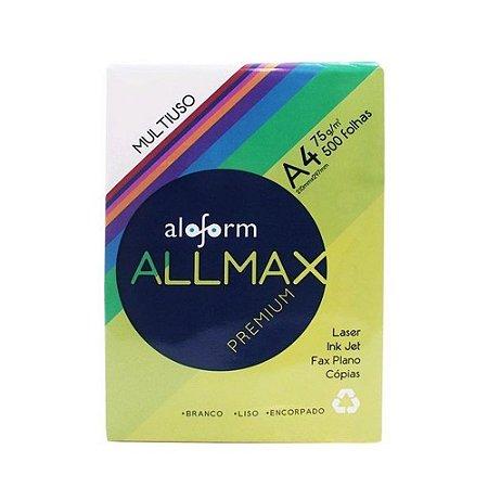 Papel Sulfite Aloform Premium, A4, 75g, 500 Folhas