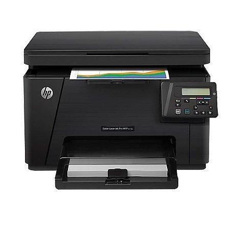 Impressora HP M176n, Multifuncional M176, Laser Colorida, Visor LCD