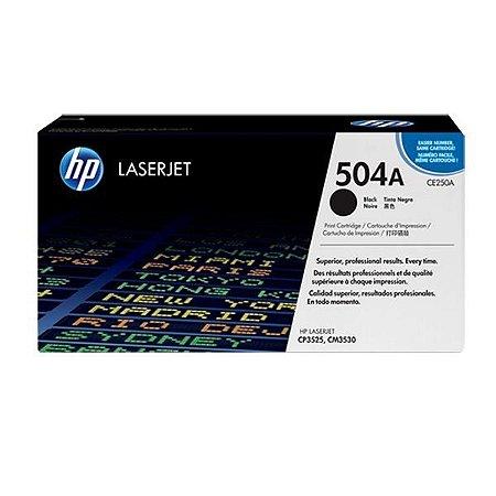 Toner HP CP3525 | CP3525x | CM3530 | HP CE250A Preto Original