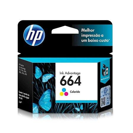 Cartucho HP 3776 | HP 664 DeskJet Ink Advantage Colorido Original