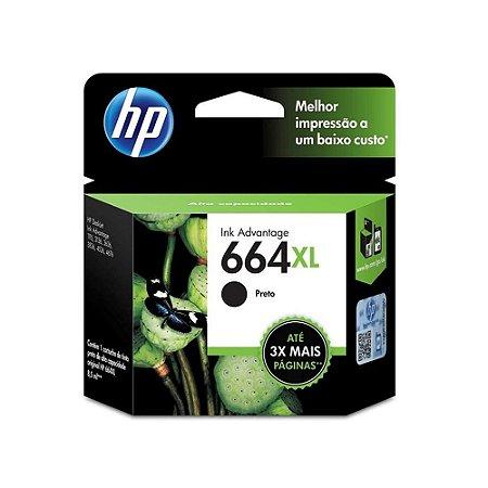 Cartucho HP 3776   HP 664XL DeskJet Ink Advantage Preto Original