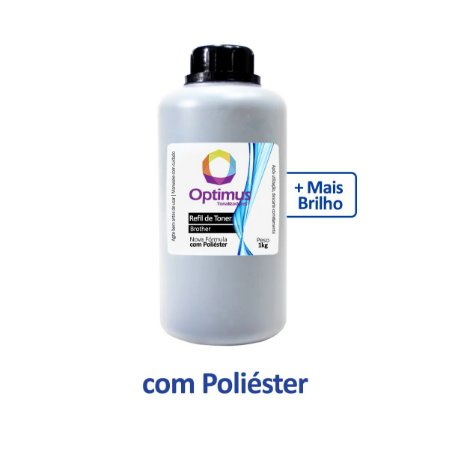Refil de Toner Brother TN-217BK   MFC-L3770CDW Preto Optimus 1kg