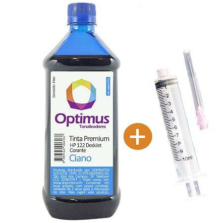 Tinta para HP 3000 | 1000 | 1050 | HP 122 Corante Ciano 1 litro