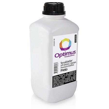 Refil de Toner HP P1005 | P1006 | CB435A | CB436A Optimus Gráfico 1kg