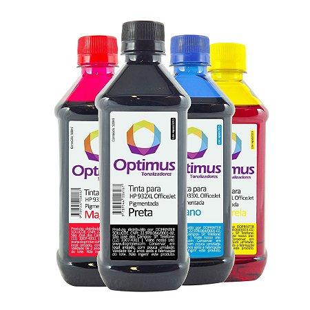 Kit de Tinta HP 7110 | HP 933XL OfficeJet Pigmentada Preta + Coloridas 500ml