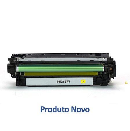 Toner para HP CP3525n | CE252A | 504A LaserJet Amarelo Compatível