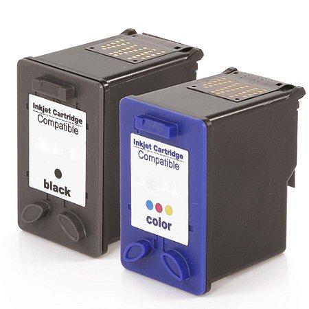 Kit Cartucho para HP 662XL   2546   1516 Preto + Colorido Compatível