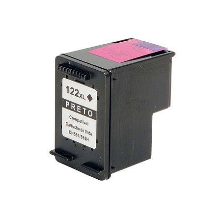 Cartucho HP 122XL | 1000 | HP CH563HB Preto Compatível 12ml
