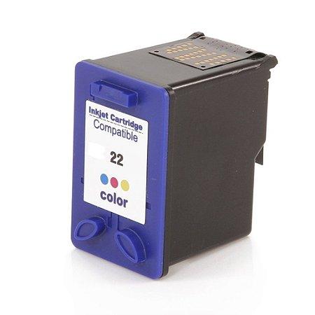 Cartucho para HP J3680   HP 1410   HP 22XL Colorido Compatível 18ml