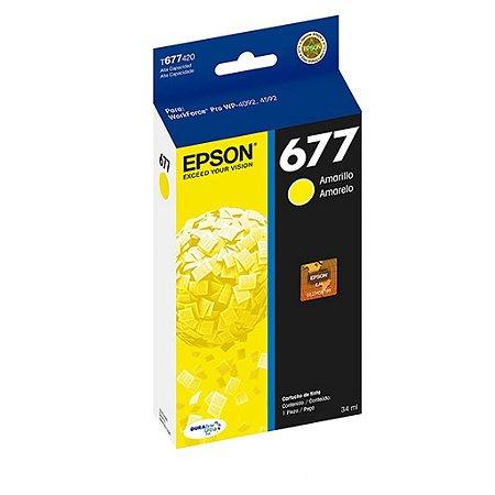 Cartucho Epson 4092 WorkForce Pro | T677420 Amarelo Original 34ml