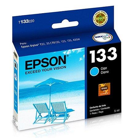 Cartucho Epson TX135   TX320F   TX120   133   T133220 Ciano Original
