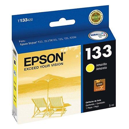 Cartucho Epson T25 | TX420W | TX130 | 133 | T133420 Amarelo Original