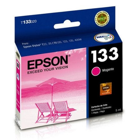 Cartucho Epson TX235W   TX123   TX125   133   T133320 Magenta Original