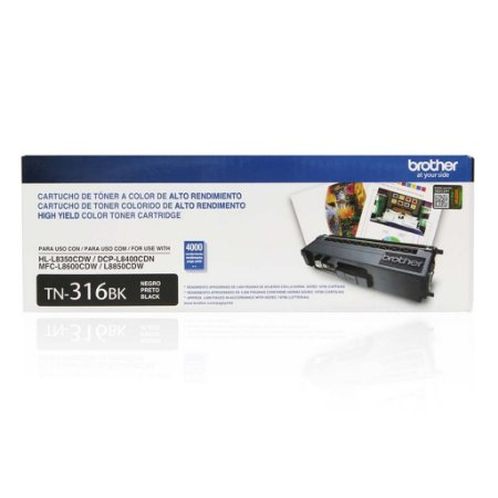 Toner Brother MFC-L8850CDW | HL-L8350CDW | TN-316BK Preto Original