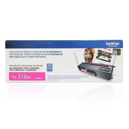 Toner Brother DCP-L8400CDN | MFC-L8600CDW | TN-316M Magenta Original