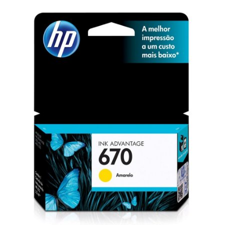 Cartucho HP 4625 | HP 670 | HP 6525 Amarelo Original 3,5ml