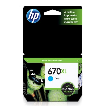 Cartucho HP Ink Advantage 5525   HP 670XL Ciano Original