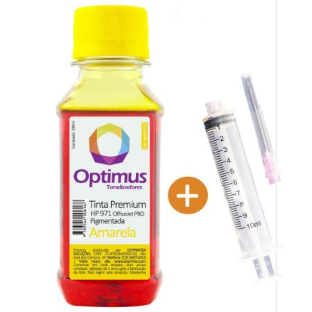 Tinta para Cartucho HP X451dn | HP 971 | X576dw Amarela Pigmentada